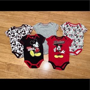 Mickey Mouse 5 Piece Onesie Set